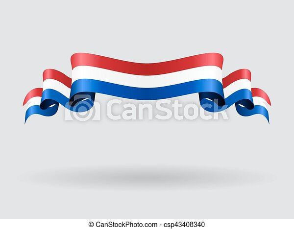 dutch wavy flag vector illustration dutch flag wavy abstract rh canstockphoto com British Flag Vector British Flag Vector