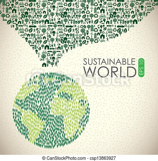 duurzaam, wereld - csp13863927