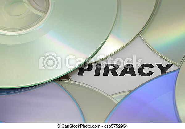 DVD and word of piracy - csp5752934