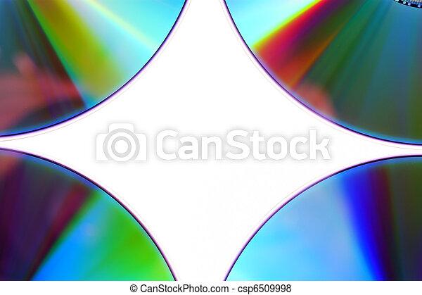 DVD CD aislado en fondo blanco - csp6509998