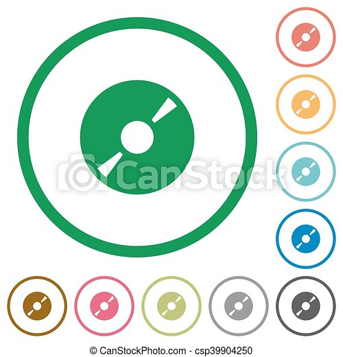 dvd disc outlined flat icons set of dvd disc color round clipart rh canstockphoto com clip art constellations clip art construction