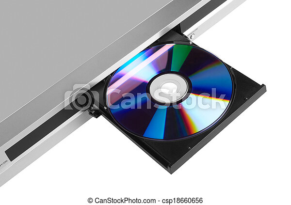 DVD player ejecting disc - csp18660656