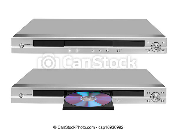 DVD player on white - csp18936992