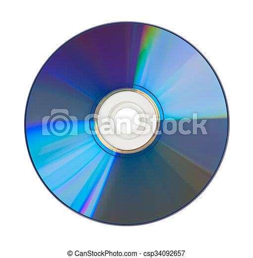 CD/ DVD cortado - csp34092657