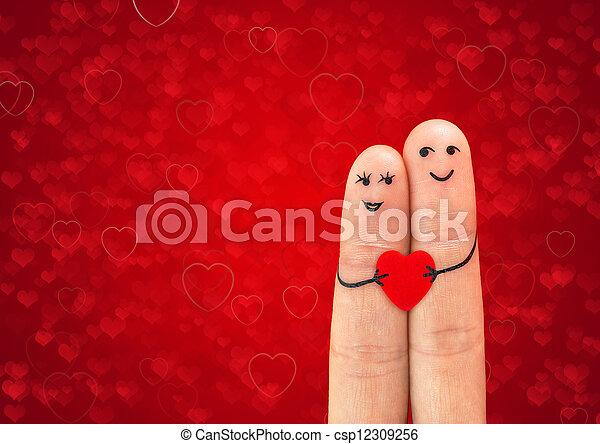 dvojice, láska, šťastný - csp12309256