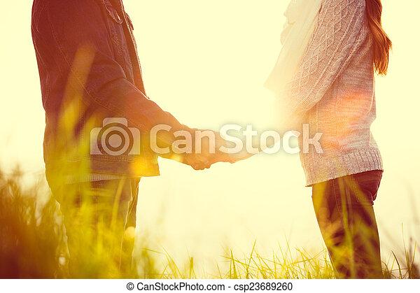 dvojice, láska, mládě - csp23689260