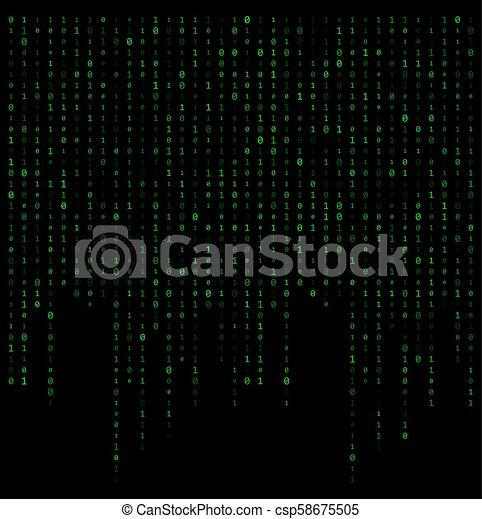 dwójkowy kodeks, potok, wektor, projektować, tło, dane - csp58675505