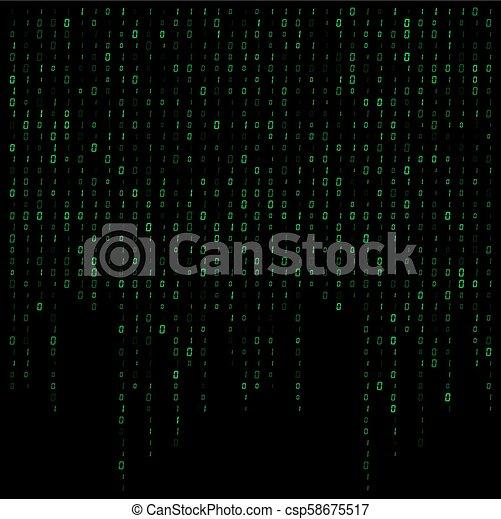dwójkowy kodeks, potok, wektor, projektować, tło, dane - csp58675517