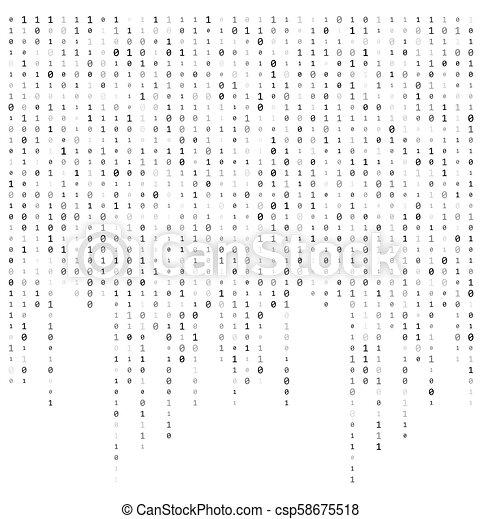 dwójkowy kodeks, potok, wektor, projektować, tło, dane - csp58675518