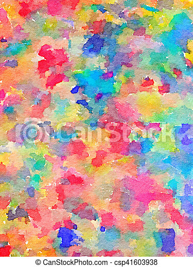 Dw Multi Color Painting Digital Watercolor Painting Of Multi Color Paints On Fabric Colors Include Red Pink Blue