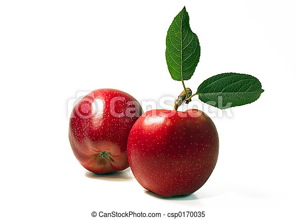 dwa, jabłka - csp0170035