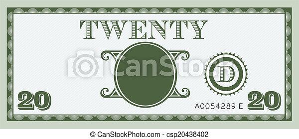 dwadzieścia, wizerunek, halabarda, pieniądze - csp20438402