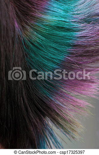 Dyed hair, professional hair coloring - csp17325397
