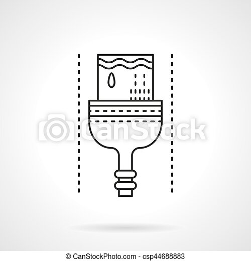 Dyeing brush flat line vector icon - csp44688883