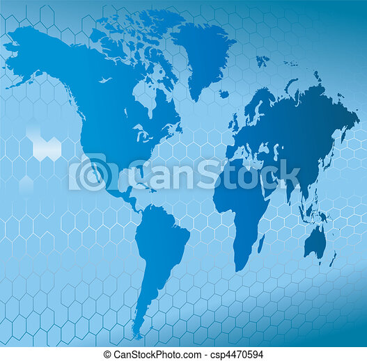 dynamic 3d world map with background - csp4470594