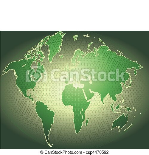 dynamic 3d world map with background - csp4470592