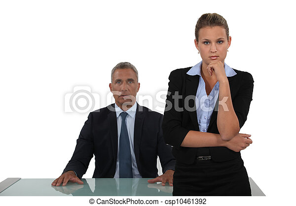 Dynamic business duo - csp10461392
