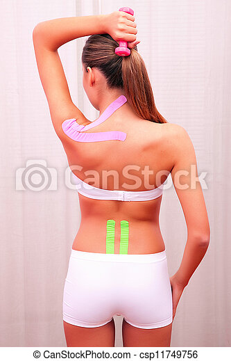 dynamic functional bandage with taping - csp11749756