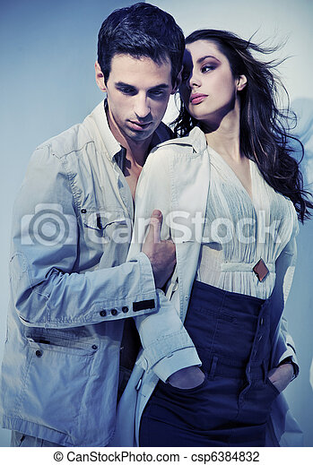 Dynamic photo of a sexy couple - csp6384832
