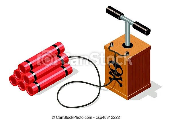 Dynamite bomb and detonator is...