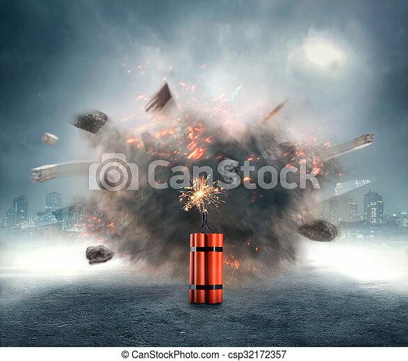 dynamite, exploser - csp32172357