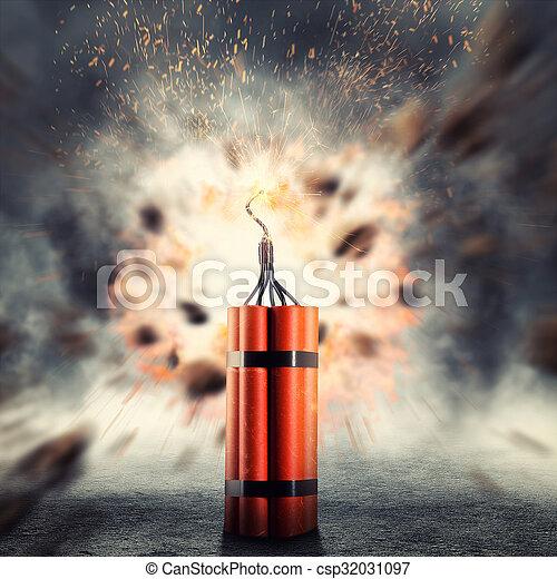 dynamite, exploser - csp32031097