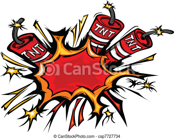 Dynamite Explosion Cartoon Vector I - csp7727734