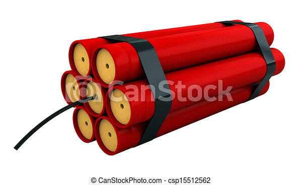 dynamite 3d render of dynamite stick isolated over white backround rh canstockphoto com dynamite stick clip art dynamite images clip art