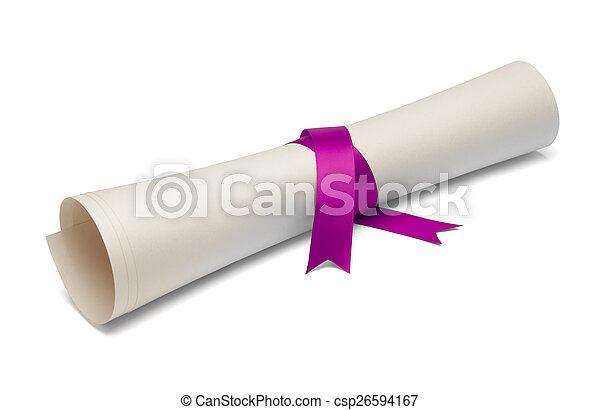 dyplom, niedobitek - csp26594167