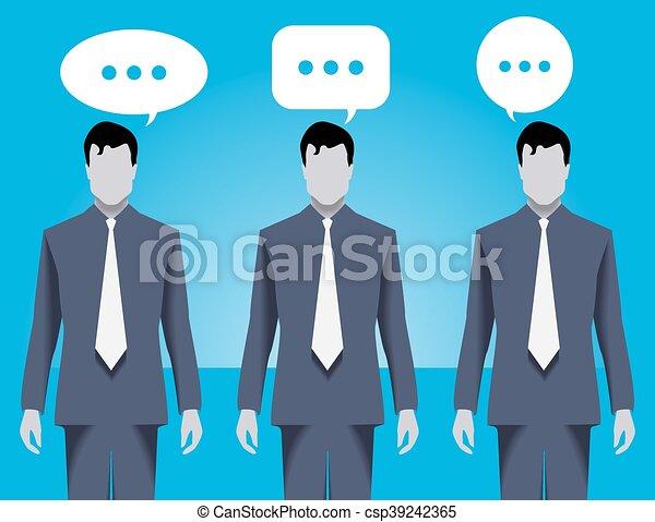 dyskusja, pojęcie, handlowy zaprzęg - csp39242365