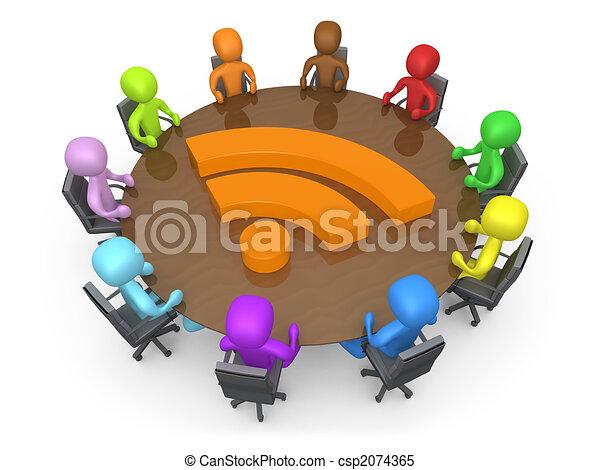 dyskusja, współposiadanie - csp2074365