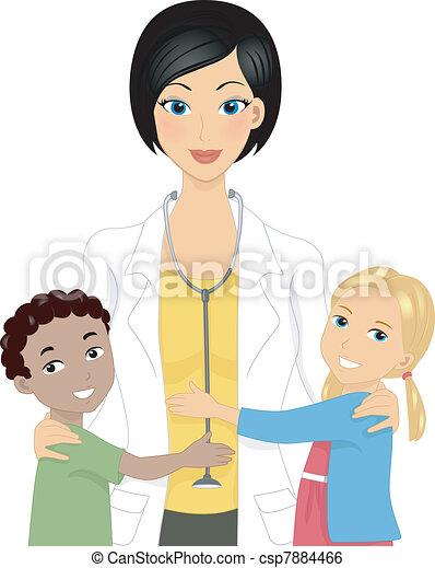 dzieciaki, doktor - csp7884466