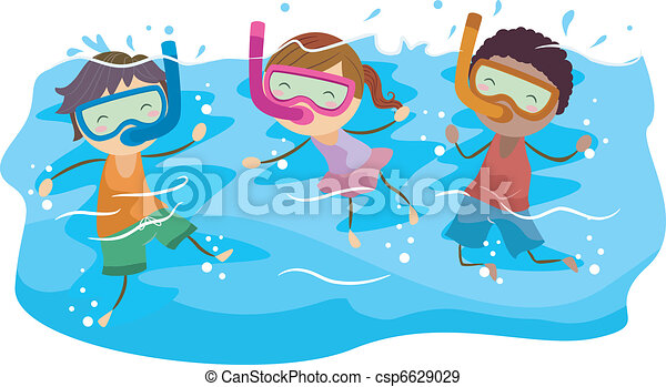 dzieciaki, snorkeling - csp6629029
