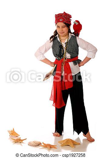 dziewczyna, pirat - csp1927258