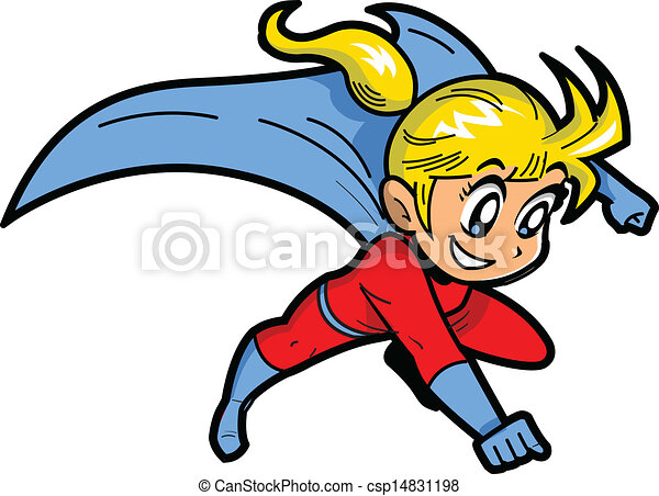 dziewczyna, superhero, anime, manga - csp14831198