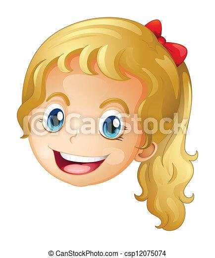 dziewczyna, twarz - csp12075074