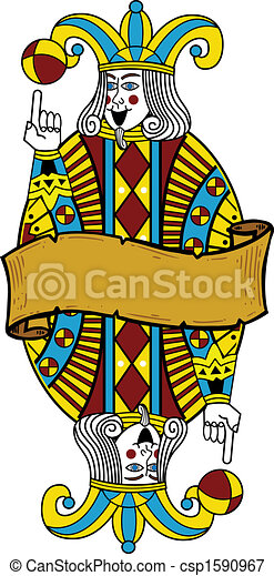 dzsóker, mód, kártya játék, ábra - csp1590967