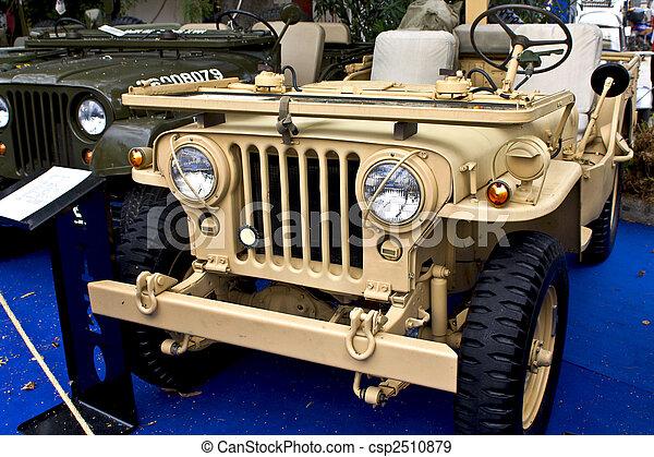 dzsip, collectible, ww2, öreg, jármű - csp2510879