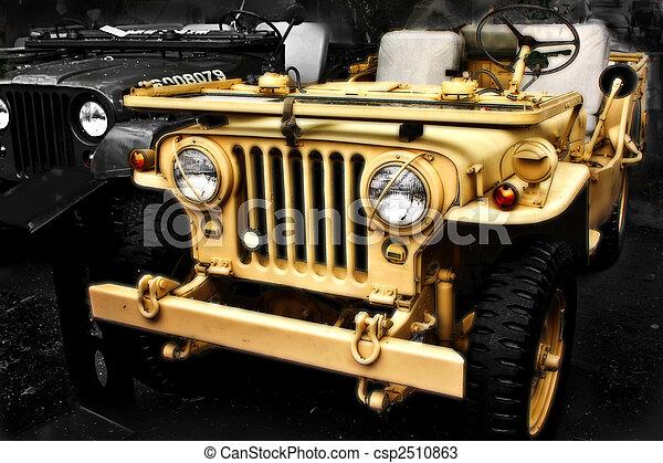 dzsip, collectible, ww2, öreg, jármű - csp2510863