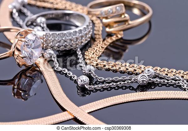 dzwoni, więzy, srebro, złoty - csp30369308