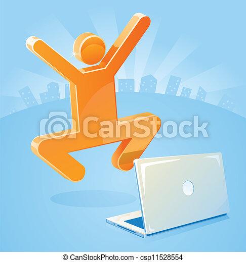 e-affaires, crosse, reussite, homme - csp11528554