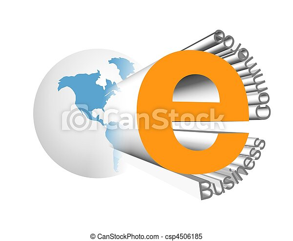 e-affaires, icône - csp4506185