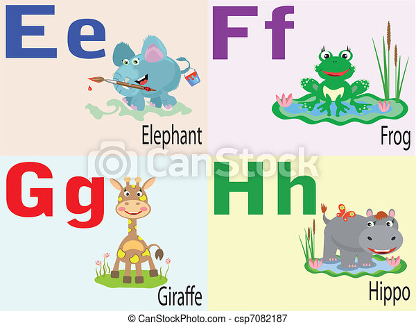 e, alphabet, animal - csp7082187