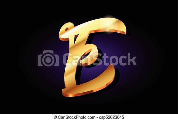 E alphabet letter golden 3d logo icon design e alphabet letter logo e alphabet letter golden 3d logo icon design csp52623845 thecheapjerseys Choice Image