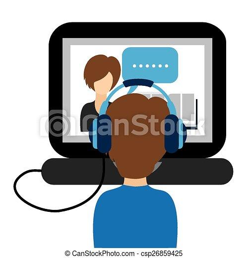 Un concepto de aprendizaje electrónico - csp26859425