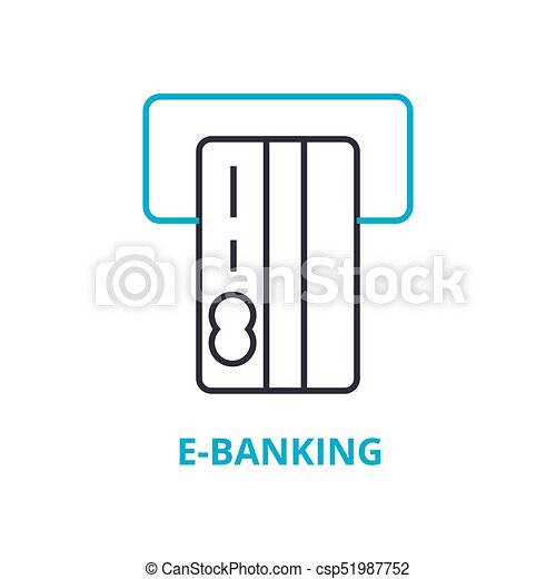 E banking concept outline icon linear sign thin line pictogram e banking concept outline icon linear sign thin line pictogram logo ccuart Images