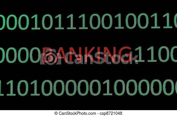 e-, bankwesen - csp8721048