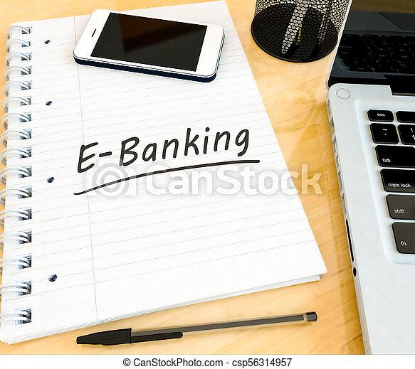 e-bankwesen - csp56314957