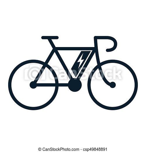E Bike Bicicletta Bicicletta Elettro Icona