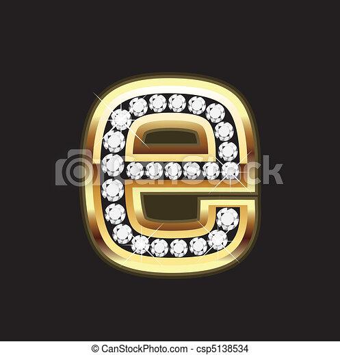 e bling letter - csp5138534